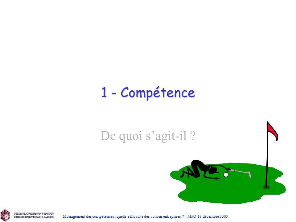 1 - Compétence De quoi s'agit-il