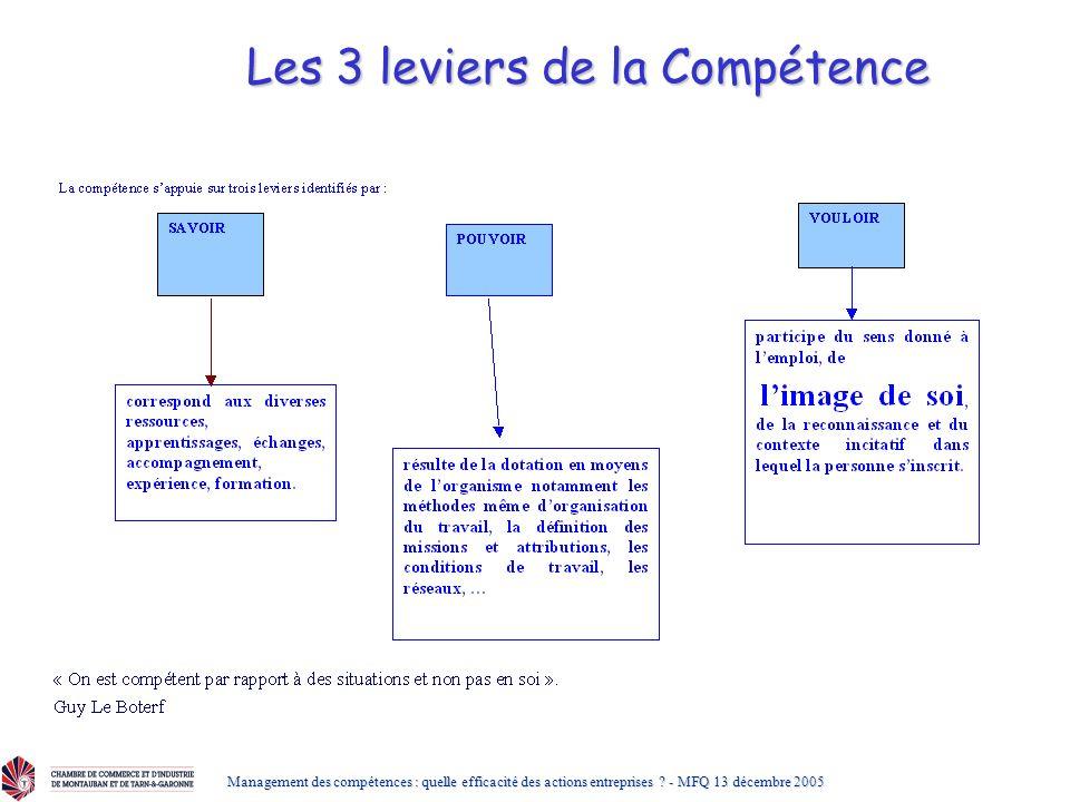 Les 3 leviers de la Compétence