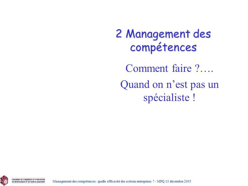 2 Management des compétences