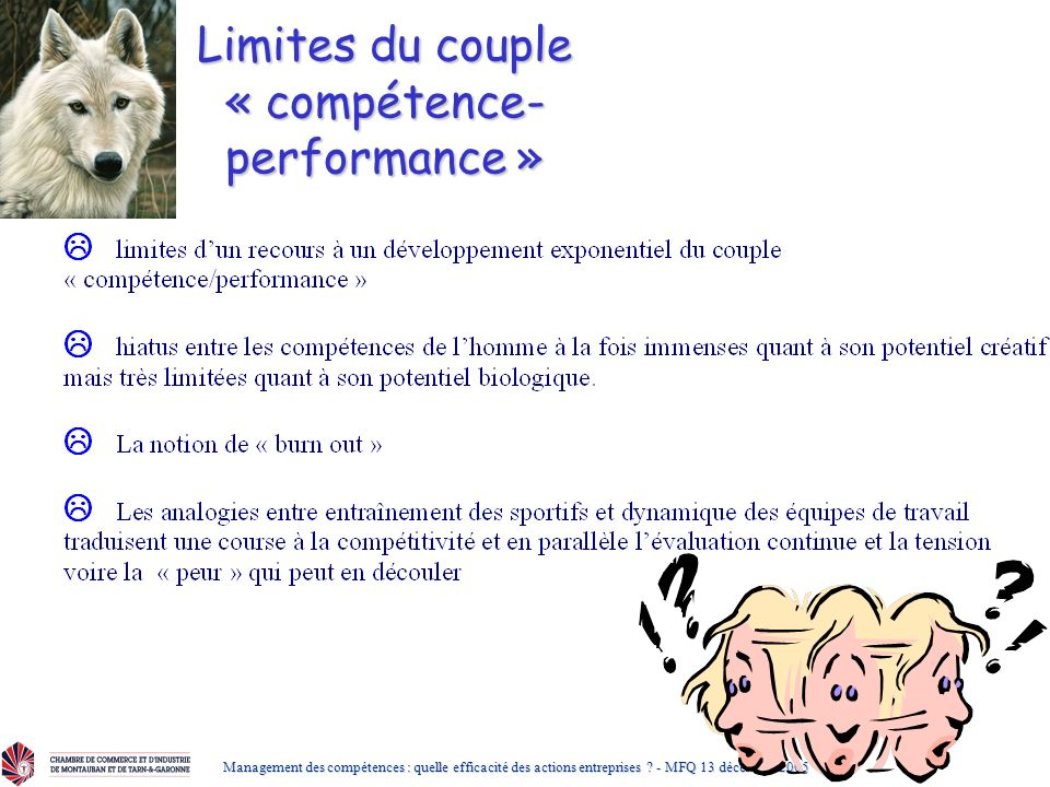 Limites du couple « compétence-performance »