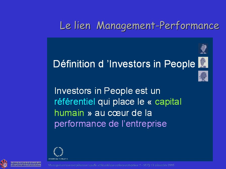 Le lien Management-Performance