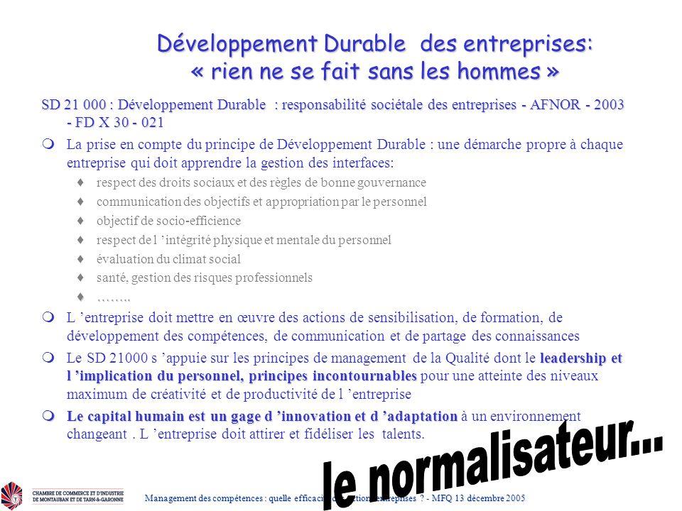 Développement Durable des entreprises: « rien ne se fait sans les hommes »