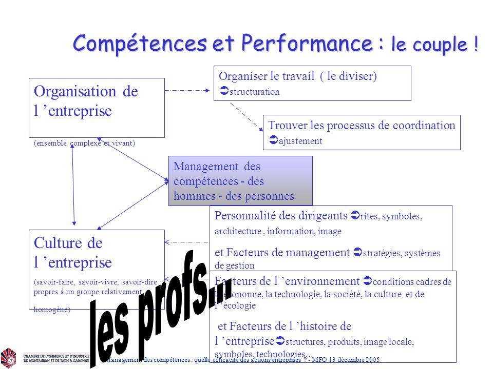 Compétences et Performance : le couple !