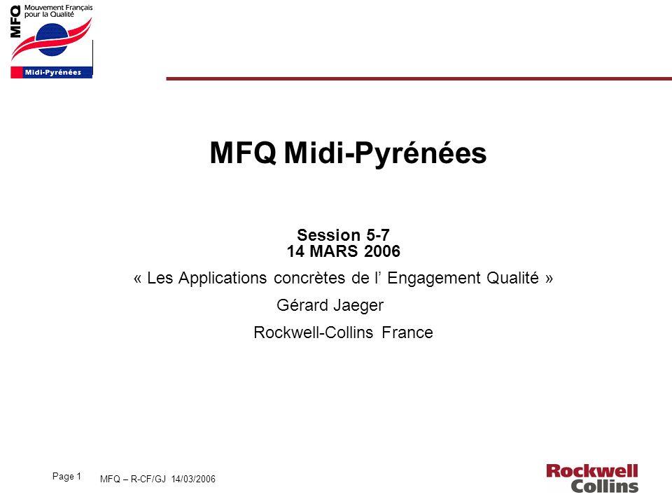 MFQ Midi-Pyrénées Session 5-7 14 MARS 2006