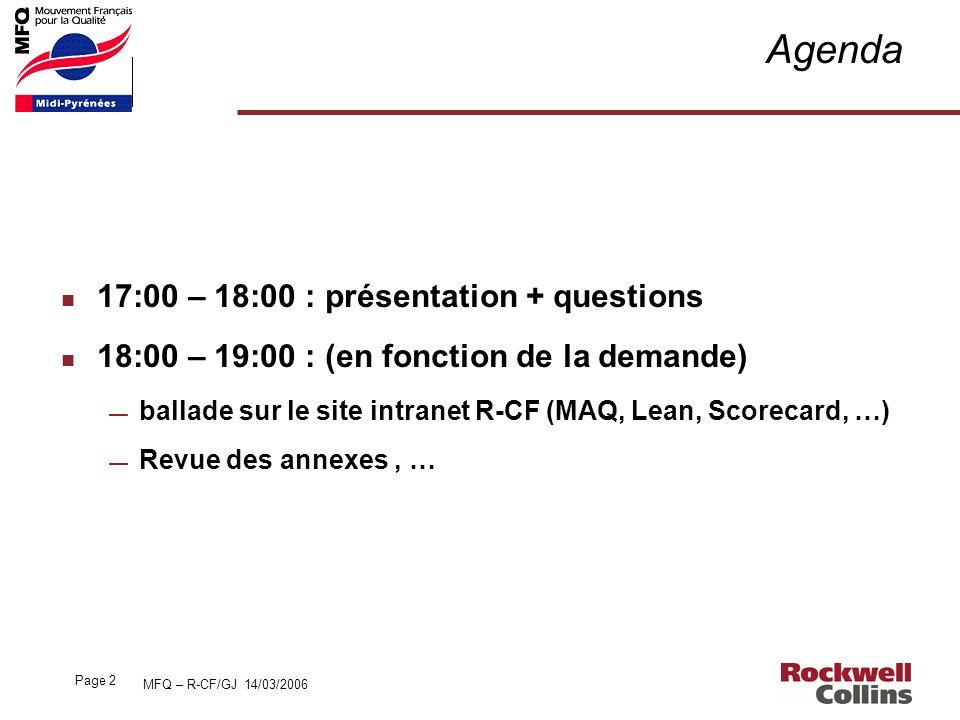 Agenda 17:00 – 18:00 : présentation + questions