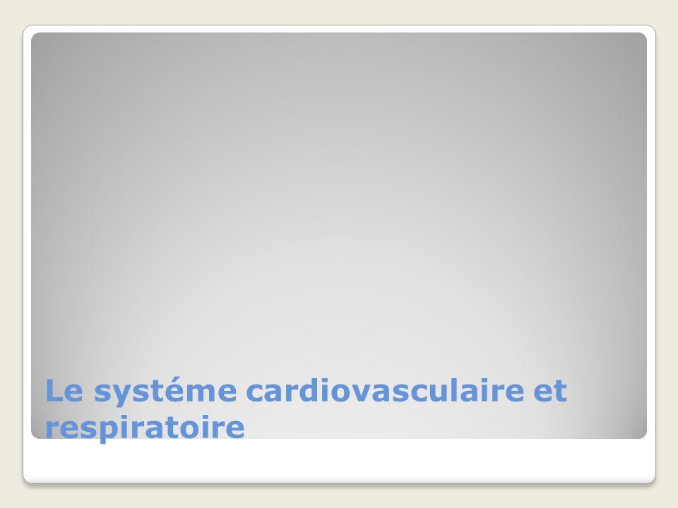Le systéme cardiovasculaire et respiratoire