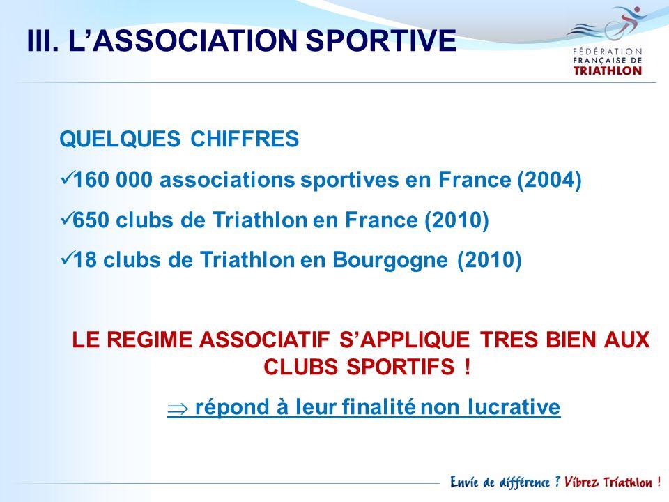 LE REGIME ASSOCIATIF S'APPLIQUE TRES BIEN AUX CLUBS SPORTIFS !