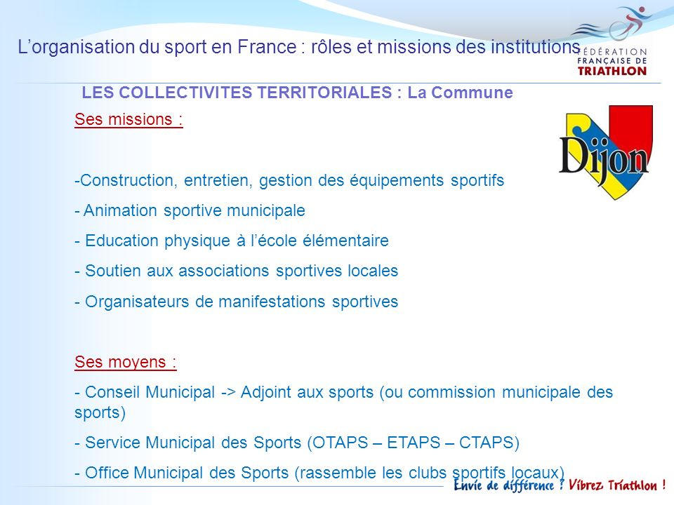 LES COLLECTIVITES TERRITORIALES : La Commune