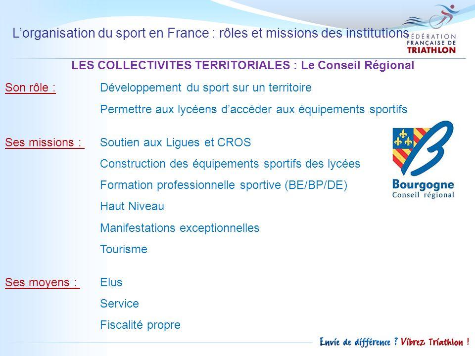 LES COLLECTIVITES TERRITORIALES : Le Conseil Régional