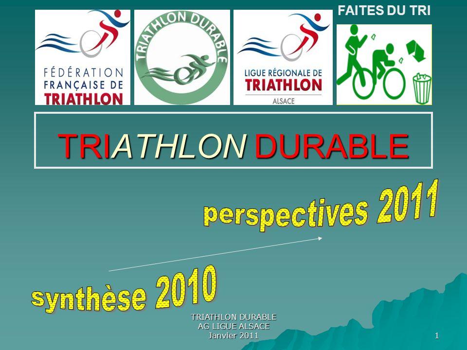 TRIATHLON DURABLE AG LIGUE ALSACE Janvier 2011