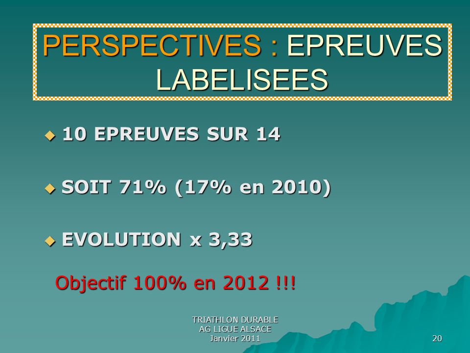PERSPECTIVES : EPREUVES LABELISEES