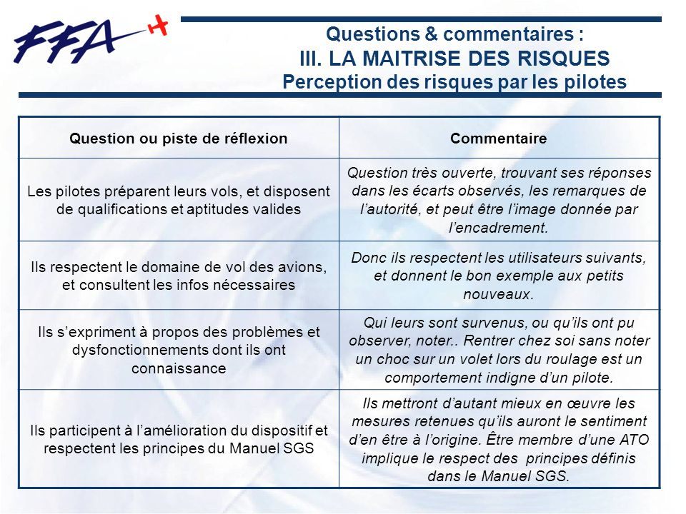 Question ou piste de réflexion