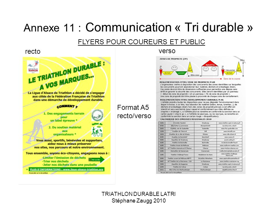 Annexe 11 : Communication « Tri durable »