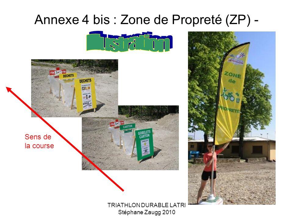 Annexe 4 bis : Zone de Propreté (ZP) -
