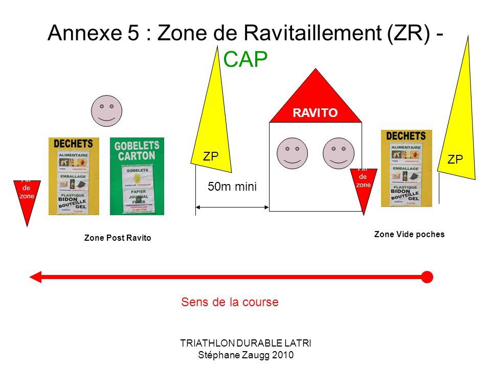 Annexe 5 : Zone de Ravitaillement (ZR) - CAP