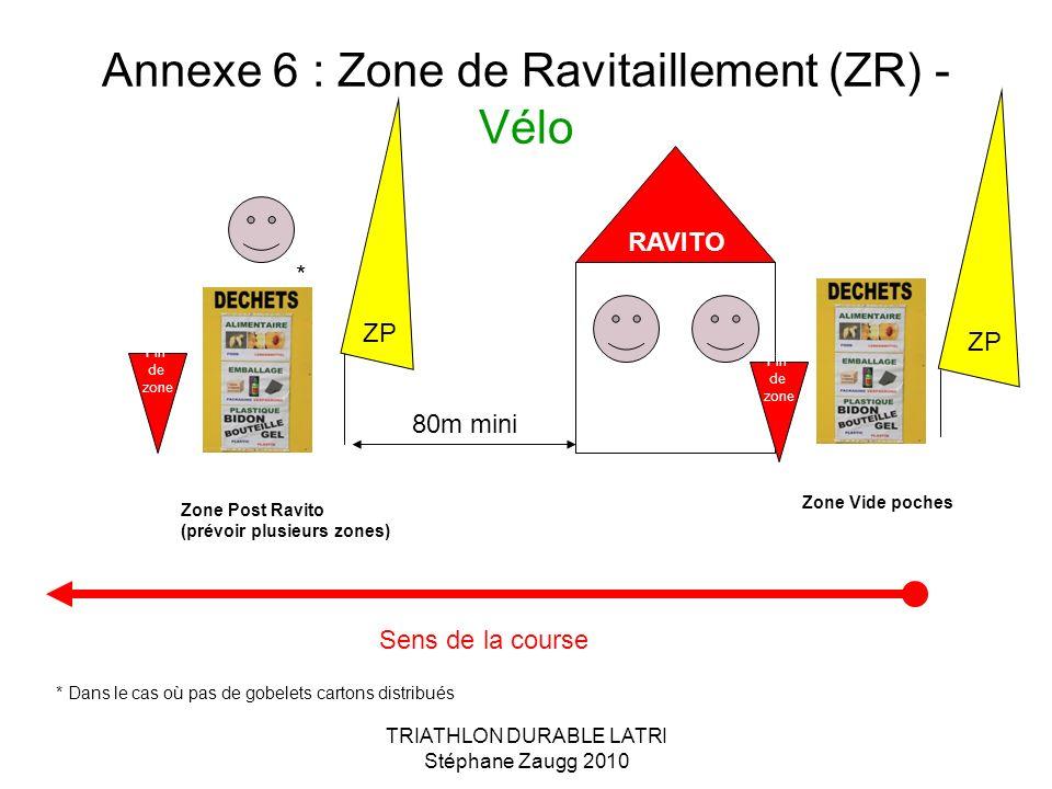 Annexe 6 : Zone de Ravitaillement (ZR) -Vélo