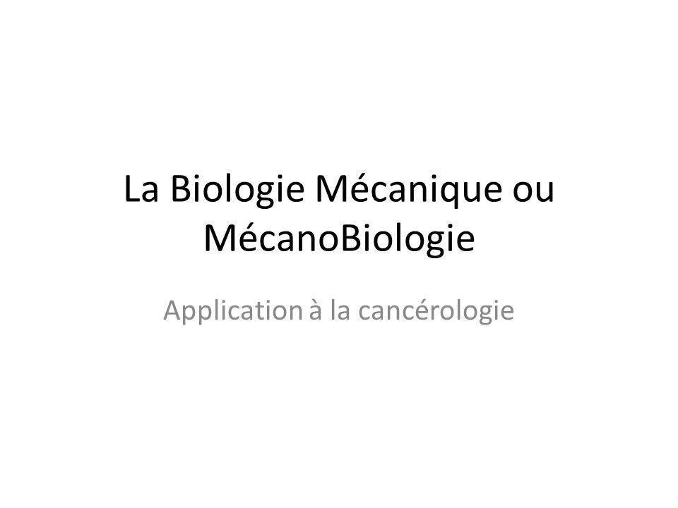 La Biologie Mécanique ou MécanoBiologie