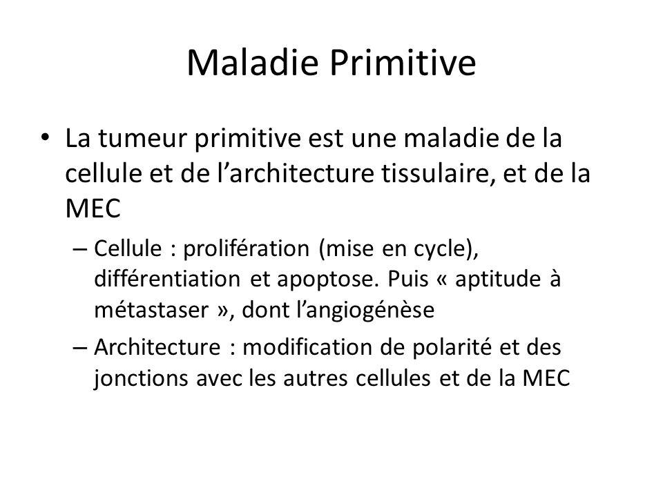 Maladie Primitive La tumeur primitive est une maladie de la cellule et de l'architecture tissulaire, et de la MEC.