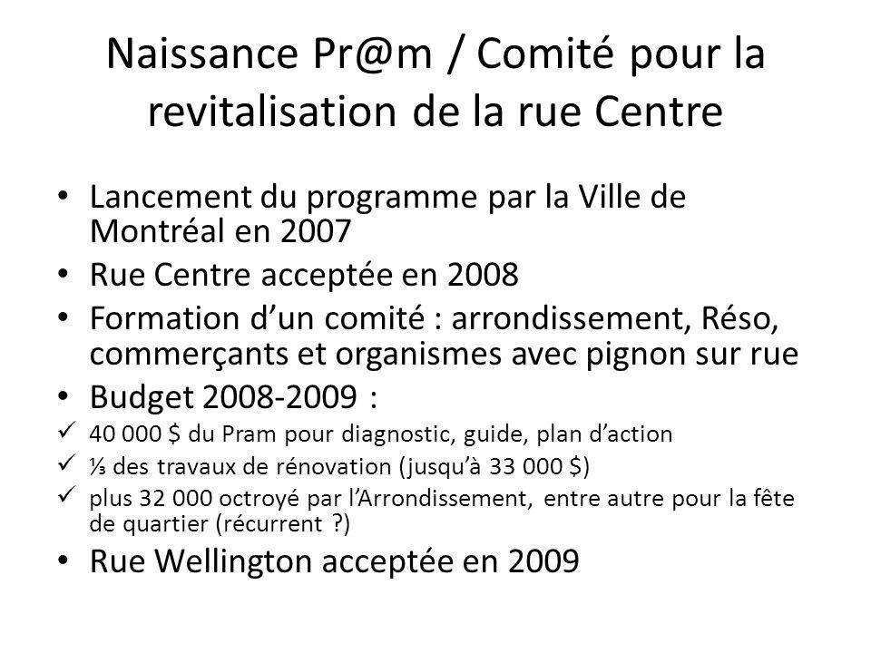 Naissance Pr@m / Comité pour la revitalisation de la rue Centre