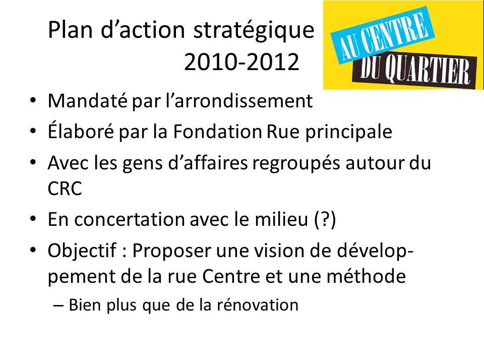 Plan d'action stratégique rue Centre 2010-2012