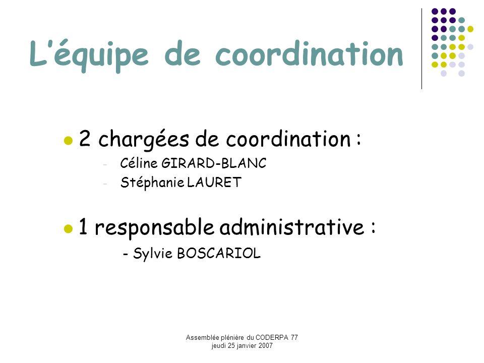 L'équipe de coordination