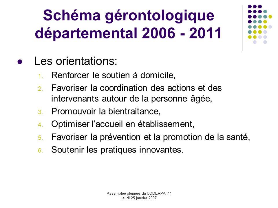 Schéma gérontologique départemental 2006 - 2011