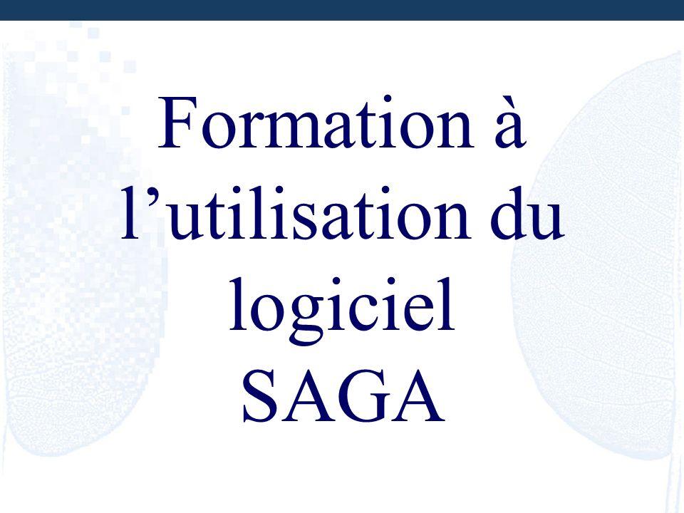 Formation à l'utilisation du logiciel SAGA