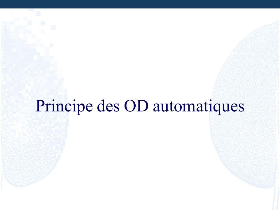 Principe des OD automatiques