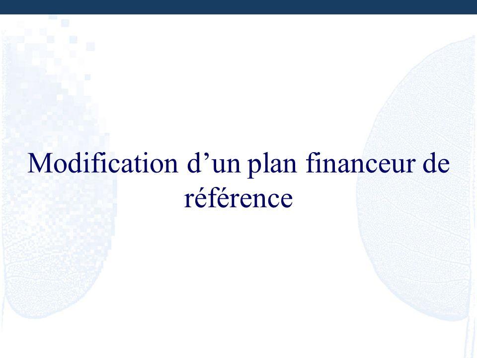 Modification d'un plan financeur de référence