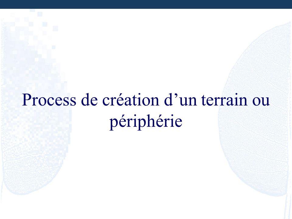 Process de création d'un terrain ou périphérie