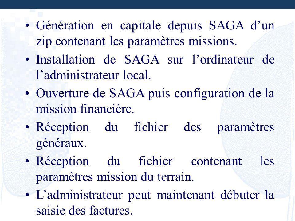 Génération en capitale depuis SAGA d'un zip contenant les paramètres missions.
