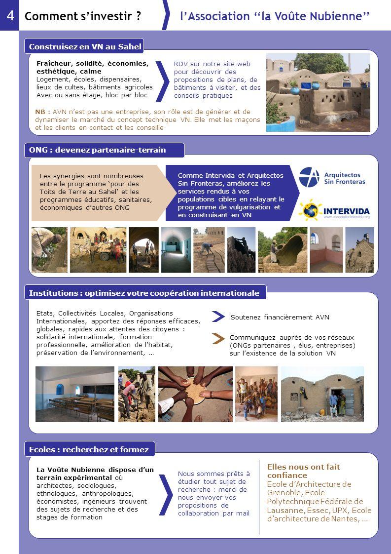 4 Comment s'investir l'Association ''la Voûte Nubienne''