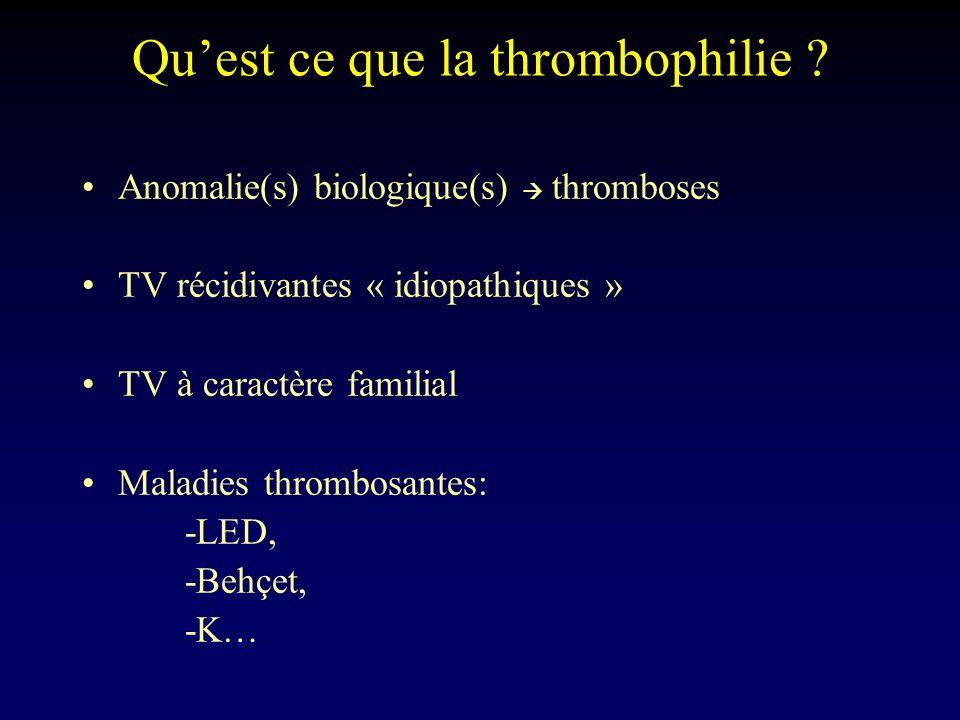 Qu'est ce que la thrombophilie