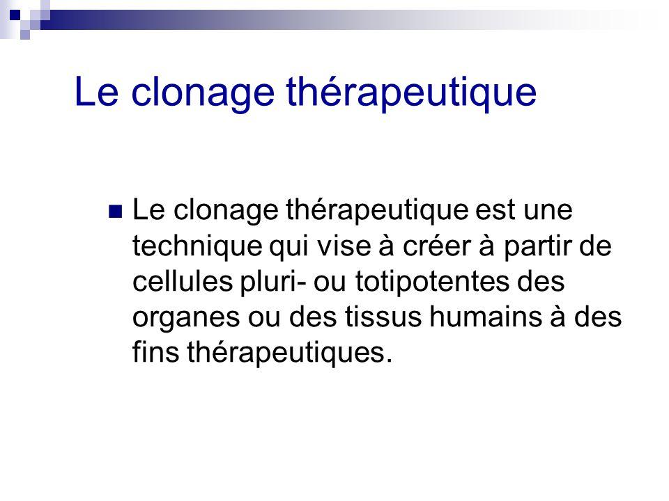 Le clonage thérapeutique