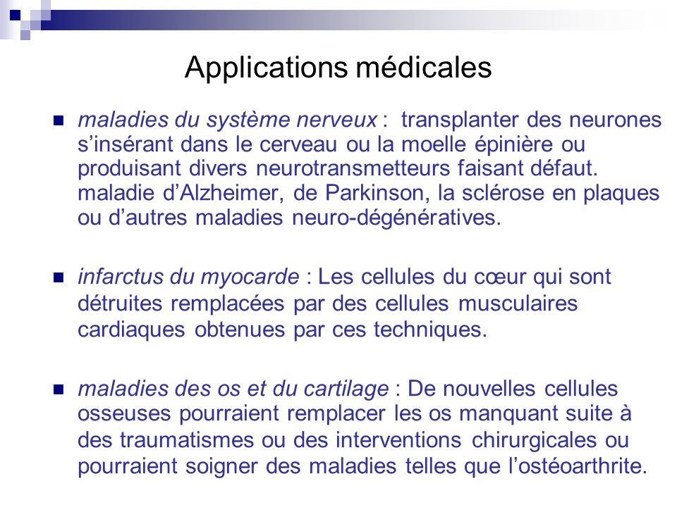 Applications médicales