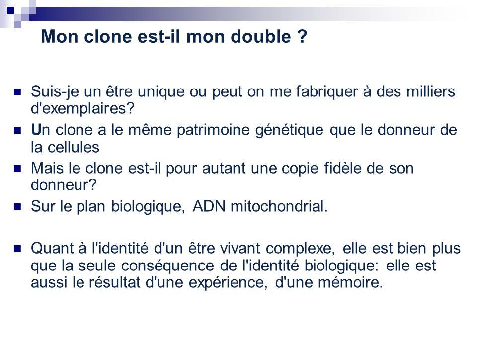 Mon clone est-il mon double