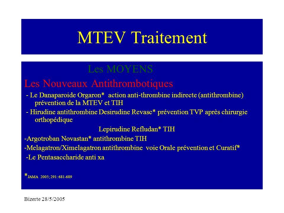 MTEV Traitement Les MOYENS Les Nouveaux Antithrombotiques
