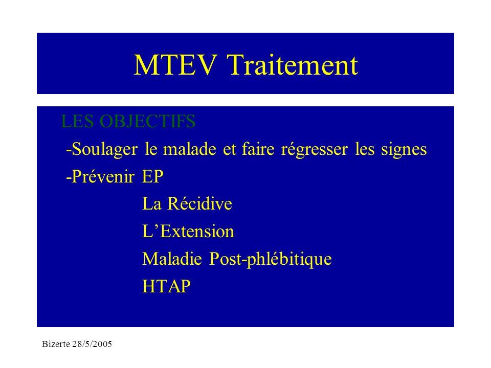 MTEV Traitement LES OBJECTIFS