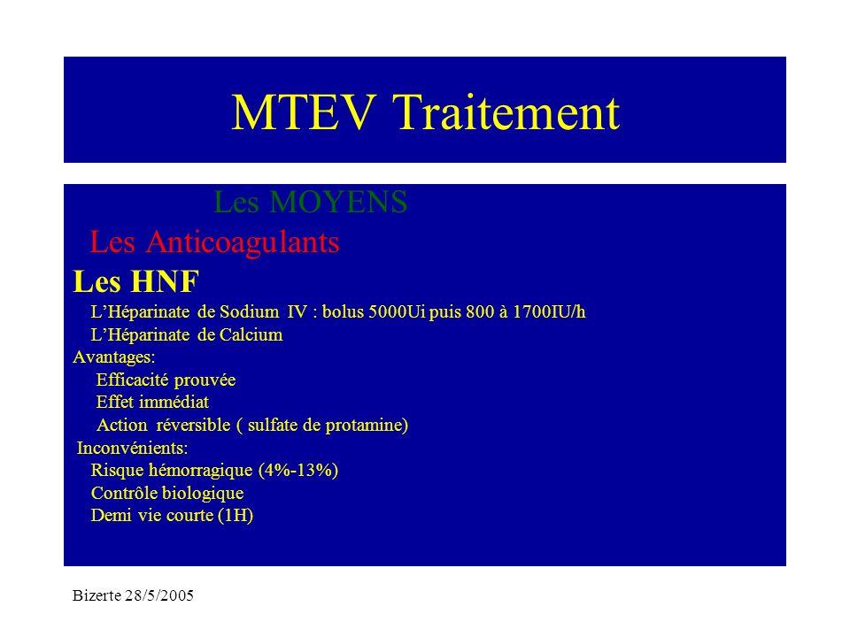 MTEV Traitement Les MOYENS Les Anticoagulants Les HNF