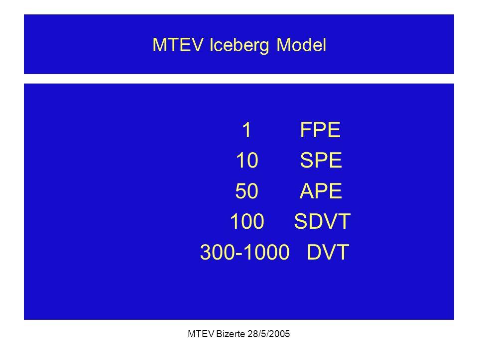 1 FPE 10 SPE 50 APE 100 SDVT 300-1000 DVT MTEV Iceberg Model