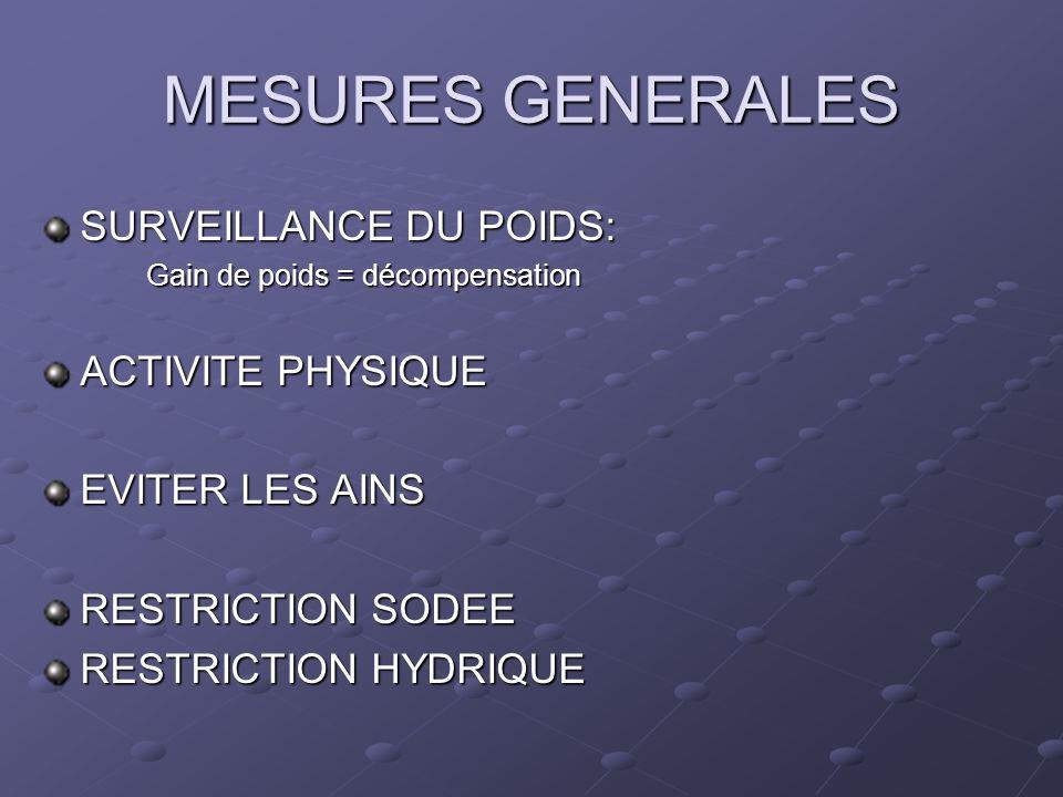 MESURES GENERALES SURVEILLANCE DU POIDS: ACTIVITE PHYSIQUE