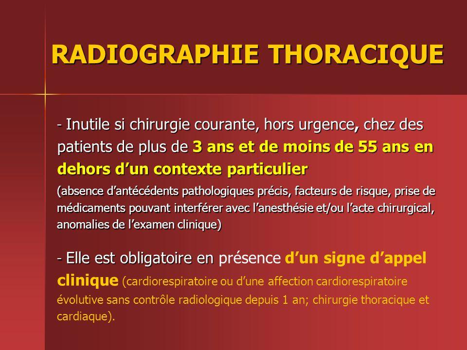 RADIOGRAPHIE THORACIQUE