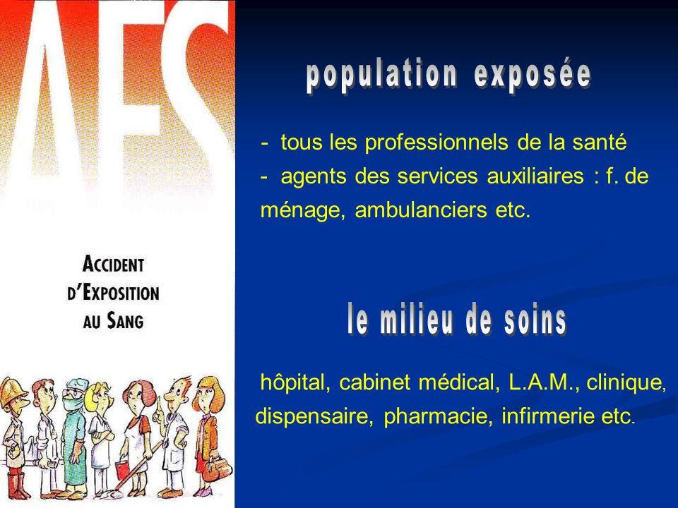 population exposée - agents des services auxiliaires : f. de