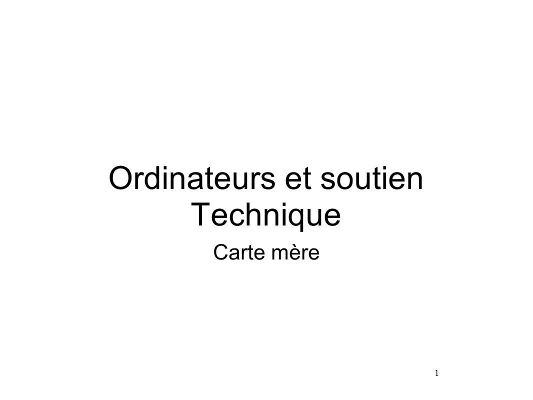 Ordinateurs et soutien Technique