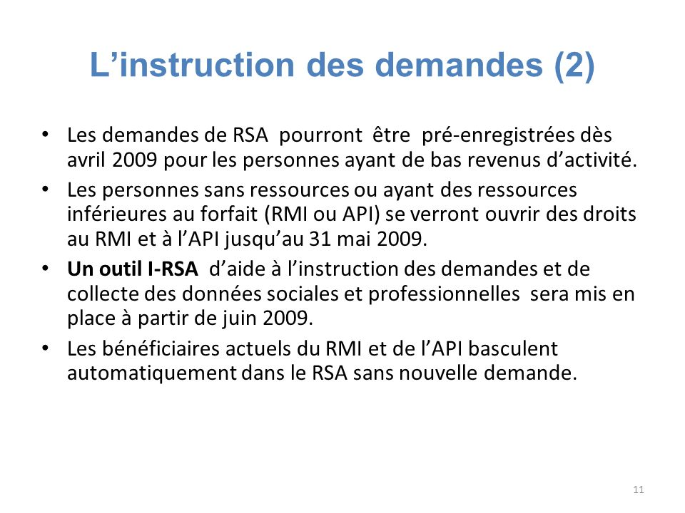 L'instruction des demandes (2)