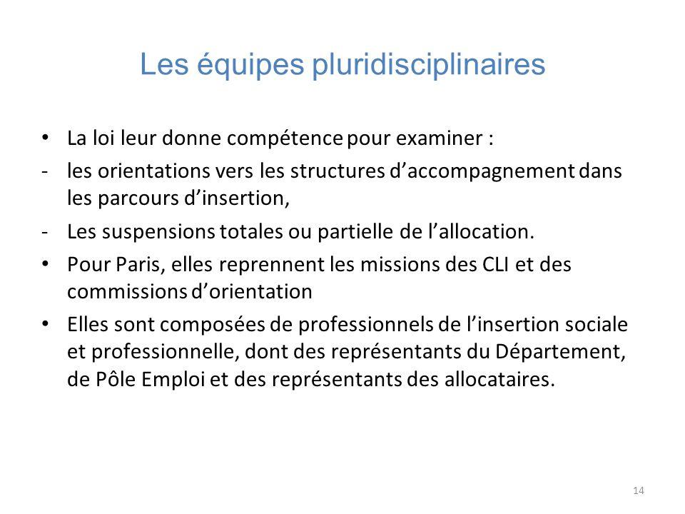 Les équipes pluridisciplinaires