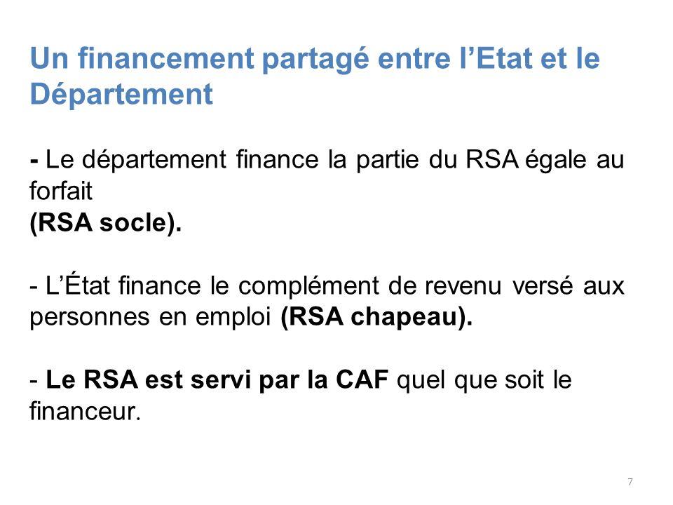 Le RSA est servi par la CAF quel que soit le financeur.