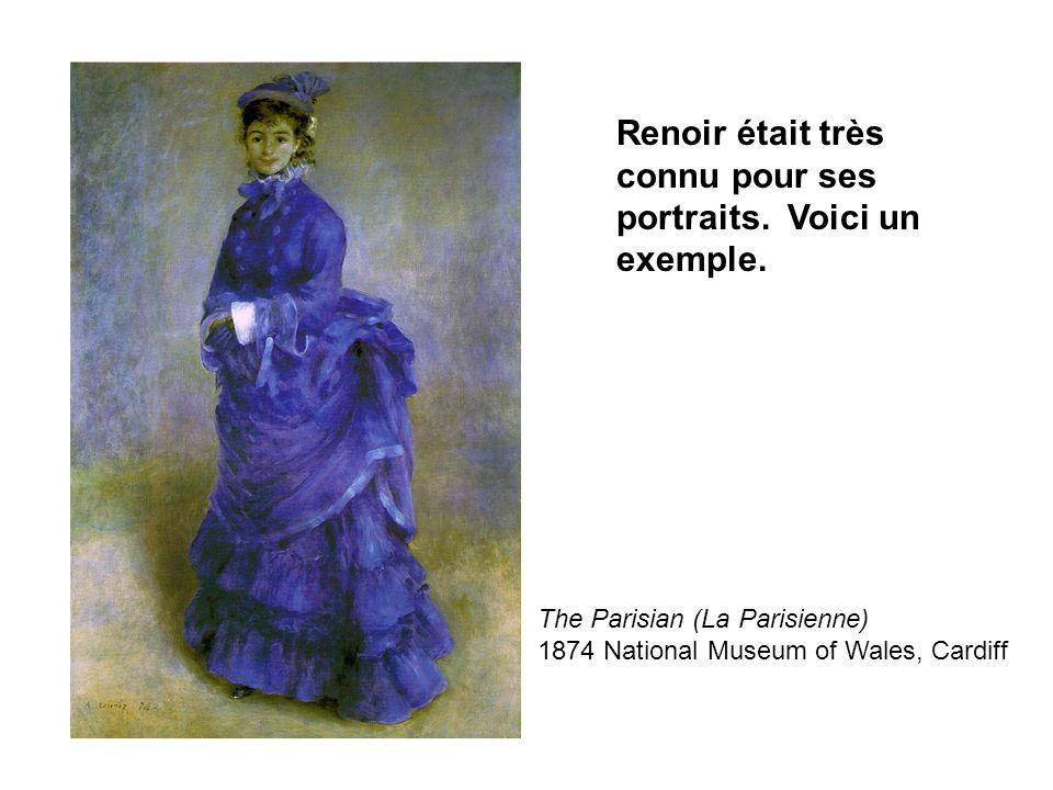Renoir était très connu pour ses portraits. Voici un exemple.