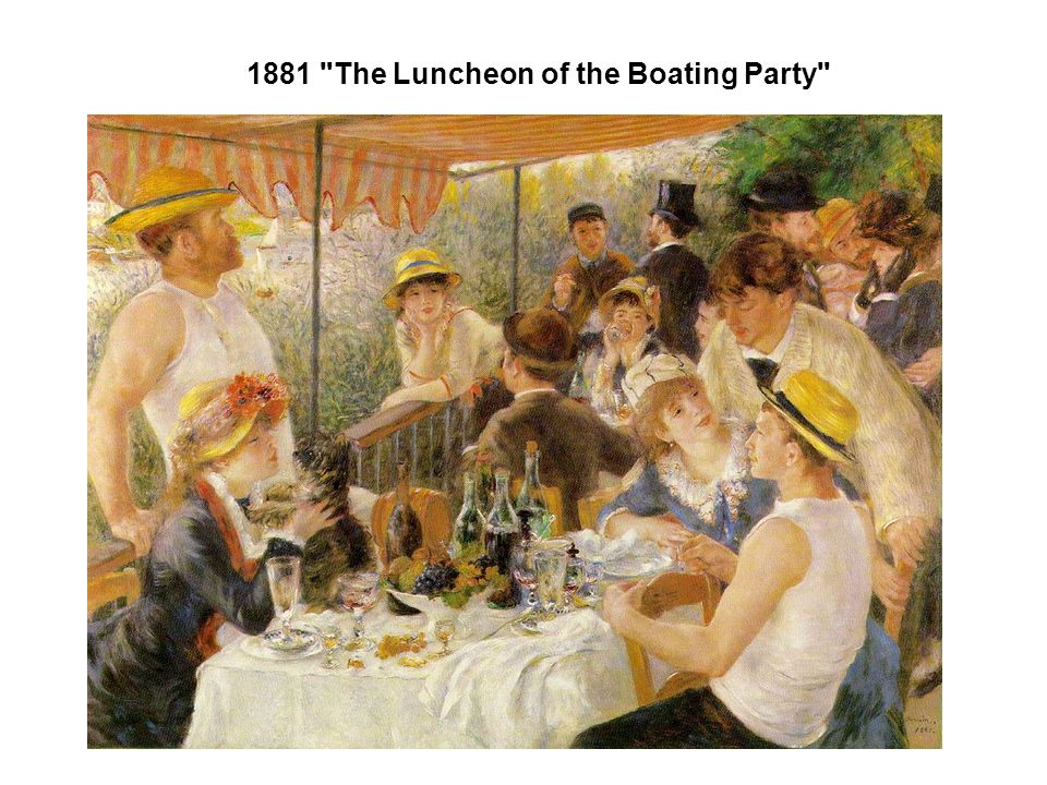 1881 The Luncheon of the Boating Party