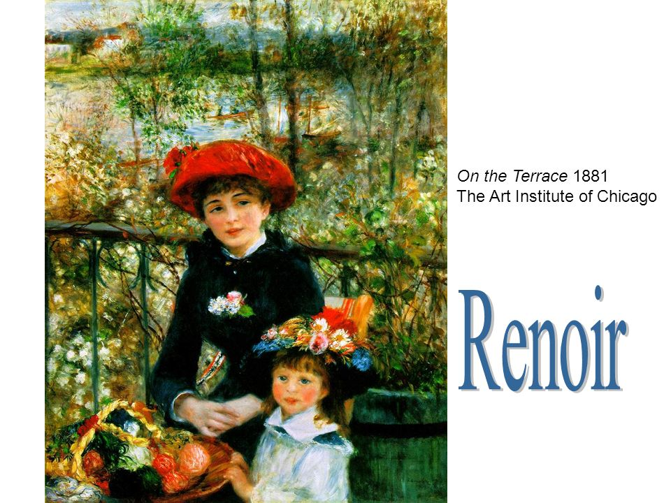 On the Terrace 1881 The Art Institute of Chicago Renoir